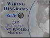 2005 Ford FreeStyle, Ford Five Hundred & Mercury Montego Wiring Diagrams (SKU: FCS1395005)