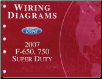 2007 Ford F-650, 750 and Super Duty - Wiring Diagrams (SKU: FCS1220107)