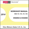 2014 Hino Cab-Over-Engine 155 155h 195 195h OEM Repair Service Manual CD (SKU: HINO-2014-COE-CD)