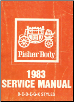 1983 General Motors Fisher Body Assembly Service Manual B-C-D-E-G-K Styles (SKU: 20495011)