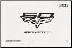 2013 Chevrolet Corvette Factory Owner's Manual (SKU: 22758824B)