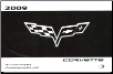 2009 Chevrolet Corvette Factory Owner's Manual (SKU: 25788997B)