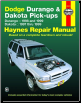 1997 - 1999 Dodge Durango and Dakota Haynes Repair Manual (SKU: 1563923521)