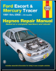 1991 - 2002 Ford Escort & Mercury Tracer Haynes Repair Manual (SKU: 156392840X)