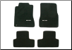 ROUSH 2005 - 2009 Mustang Floor Mat Set, Front & Rear, Dark Charcoal w/ Grey Trim (SKU: 401355)