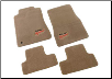 ROUSH 2005 - 2009 Mustang Floor Mat Set, Front and Rear, Tan (SKU: 401356)