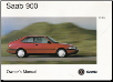 1995 SAAB 900 Owner's Manual (SKU: 409078)