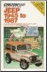 1945 - 1987 Jeep CJ-2 thru CJ-7, Scrambler & Wrangler Chilton's Repair & Tune-Up Guide - Softcover (SKU: 0801976758)