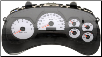 2005 Chevrolet Trailblazer &Trailblazer EXT Instrument Cluster Repair w/o DIC, w Tach, w White Applique (SKU: 10356460)