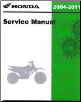 2004 - 2011 Honda CRF80F & CRF100F Factory Service Manual (SKU: 61KSJ06)