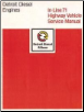 Detroit Diesel Engines, In-Line 71 Highway Vehicle Service Manual (SKU: 6SE250)