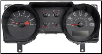 2006 - 2007 Ford Mustang Instrument Cluster Repair (4.0L, 6 Gauge, 120 MPH, 7000 RPM) (SKU: 7R3310849EC)