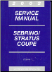 2002 Chrysler Sebring and Stratus Coupe Service Manual - 3 Volume Set (SKU: 8127002031-2-3)