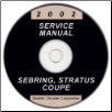 2002 Chrysler Sebring and Dodge Stratus Coupe Service Manual - CD-ROM (SKU: 8127002033CD)