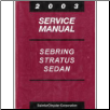 2003 Chrysler, Dodge Sebring, Stratus Sedan, Convertible Factory Service Manual (SKU: 8127003025)