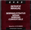 2003 Dodge Stratus Sedan / Chrysler Sebring Sedan and Convertible Factory Service CD-ROM (SKU: 8127003025CD)