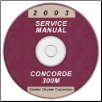 2003 Chrysler Concorde, 300M and Dodge Intrepid Service Manual - CD-ROM (SKU: 8127003027CD)