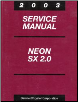 2003 Dodge Neon Service Manual (SKU: 8127003028)