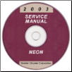 2003 Dodge Neon Service Manual - CD Rom (SKU: 8127003028CD)