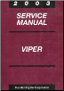 2003 Dodge Viper Service Manual (SKU: 8127003030)