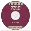 2003 Dodge Viper Service Manual - CD Rom (SKU: 8127003030CD)