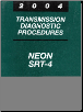 2004 Dodge Neon, SRT-4 Factory Transmission Diagnostic Procedures Manual (SKU: 8127004011)