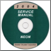 2004 Dodge Neon Service Manual - CD Rom (SKU: 8127004028CD)