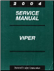 2004 Dodge Viper Factory Service Manual (SKU: 8127004030)