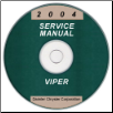 2004 Dodge Viper Service Manual- CD Rom (SKU: 8127004030CD)