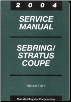 2004 Chrysler / Dodge Sebring / Stratus Coupe Factory Service Manual - 4 Volume Set (SKU: 8127004031)