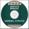2004 Chrysler Sebring and Dodge Stratus Coupe Service Manual- CD ROM (SKU: 8127004031CD)