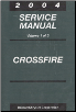 2004 Chrysler Crossfire (ZH) Service Manual- 2 Volume Set (SKU: 8127004036)