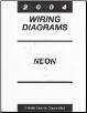 2004 Chrysler / Dodge / Plymouth Neon / SRT-4 Wiring Diagrams (SKU: 8127004328)
