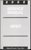 2006 Dodge Viper Service Manual (SKU: 8127006030)