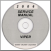 2006 Dodge Viper Service Manual- CD Rom (SKU: 812700603CD)