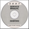 2007 Chrysler Sebring (JS) Service Manual on CD *XML & SVG* (SKU: 8127007055CD)
