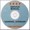 2008 Chrysler Sebring and Dodge Avenger Factory Service Manual on CD (SKU: 8127008055CD)