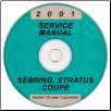 2001 Chrysler Sebring and Dodge Stratus Coupe Service Manual - CD-ROM (SKU: 812701020CD)