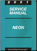 2001 Dodge / Plymouth Neon Service Manual (SKU: 812701025)