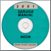 2001 Dodge / Plymouth Neon Service Manual - CD Rom (SKU: 812701025CD)