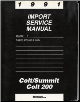 1991 Dodge Colt / Colt 200 / Eagle Summit  Service Manual / Engine, Chassis & Body Volume 1 (SKU: 812701111)