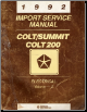 1992 Colt/Summit Colt 200 Electrical Import Service Manual Volume - 2 (SKU: 812702112)