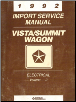1992 Chrysler Vista/Summit Wagon Factory Import Service Manual - 2 Volume Set (SKU: 812702113-4)