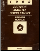 1992 Eagle Premier / Dodge Monaco Service Manual Supplement (SKU: 812702140)