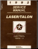 1992 Plymouth Laser / Eagle Talon Electrical Service Manual Volume - 2 (SKU: 812702501)