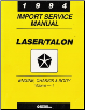 1994 Plymouth Laser & Eagle Talon Factory Service Manual - 2 Vol. Set (SKU: 812704500)