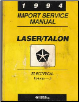 1994 Import Service Manual Plymouth Laser / Eagle Talon Electrical Volume - 2 (SKU: 812704501)