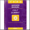 1996 Dodge and Plymouth Colt, Summit Wagon (B8) Service Manual - 2 Volume Set (SKU: 812706113-4)
