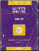 1996 Eagle Talon Service Manual - 2 Volume Set (SKU: 812706500-1)
