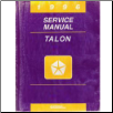 1996 Talon (F24S) Service Manual (SKU: 812706500)
